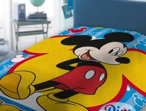 Κουβέρτα Πικέ Μονή Dimcol Mickey 565