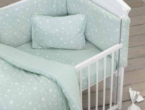 Κουβερλί Μακό Κούνιας Nima Baby Giggle Mint