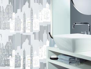 Κουρτίνα Μπάνιου Πλαστική (180×200) Spirella Skyline 00786