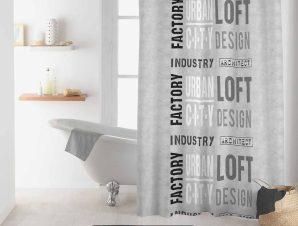 Κουρτίνα Μπάνιου (180×200) L-C Urban Loft 1801125