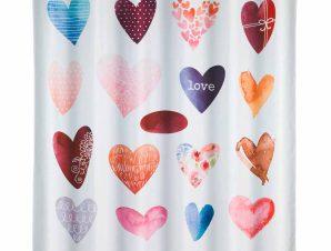 Κουρτίνα Μπάνιου (180×200) Wenko Love 23187100