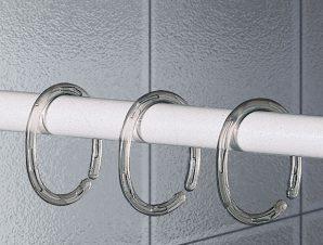 Κρίκοι Κουρτίνας Μπάνιου 12τμχ Joy Bath Clear