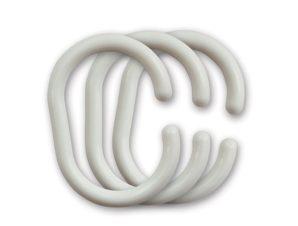 Κρίκοι Κουρτίνας Μπάνιου 12τμχ Octopus 03825.001 Λευκό