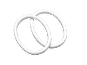 Κρίκοι Κουρτίνας Μπάνιου 12τμχ SealSkin White