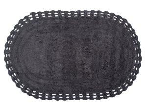 Πατάκι Μπάνιου (60×100) Silk Fashion Οβάλ Dark Grey