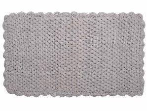 Πατάκι Μπάνιου (60×100) Silk Fashion Πλεκτό Γκρι