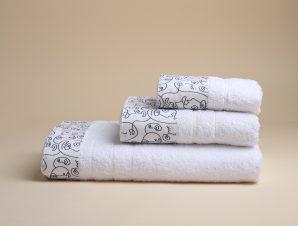 Πετσέτα Προσώπου (50×90) White Fabric Art White