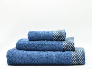 Πετσέτα Χεριών (30×50) White Fabric Dante Blue