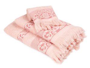 Πετσέτες Μπάνιου (Σετ 3τμχ) Dimcol Ίσιδα Ροζ