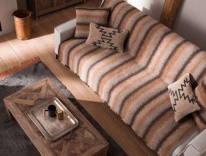 Ριχτάρι Διθέσιου (180×250) Gofis Home Groovy Καφέ 985/13