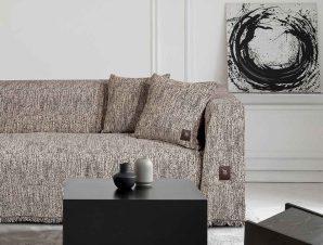 Ριχτάρι Τριθέσιου (180×300) Greenwich Polo Club 2769 Ecru – Black