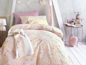 Σεντόνια Μονά (Σετ) Rythmos Symbol Glow Pink ΜΕ ΛΑΣΤΙΧΟ 105×205+25 ΜΕ ΛΑΣΤΙΧΟ 105×205+25