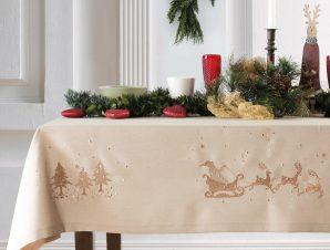 Χριστουγεννιάτικο Τραπεζομάντηλο (140×180) Makis Tselios Deer