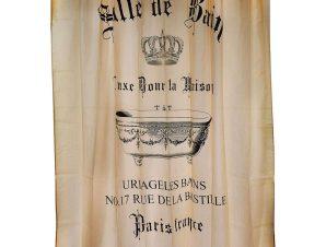 Κουρτίνα Μπάνιου Salle De Bain 02-6525 Υφασμάτινη Μπεζ Estia Φάρδος 180cm