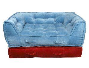 Καναπές KAN104 L.Blue-Red 80x120x63cm Espiel