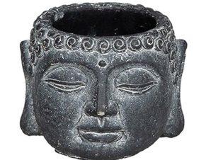 Κασπώ Βούδας 07.168503A Φ11,5cm Dark Grey Τσιμέντο