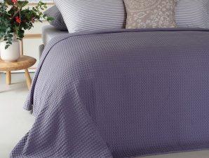 Κουβέρτα Πικέ Patmos Dark Lilac Melinen Υπέρδιπλo