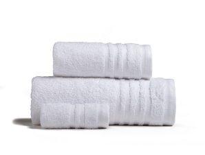 Πετσέτες Premio Σετ 3τμχ White Melinen Σετ Πετσέτες