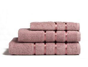 Πετσέτες Σετ 3τμχ Visco Lilac Melinen Σετ Πετσέτες