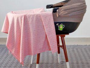 Σεντόνι Βρεφικό Estrella Girl Pink Melinen Λίκνου