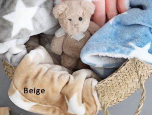 Κουβέρτα Παιδική Fleece Stars Beige Palamaiki Μονό