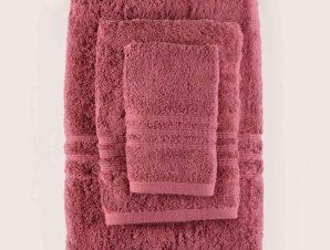 Πετσέτα Προσώπου Aria 10 Bordo Ρυθμός Προσώπου 50x90cm