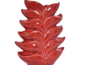 Βάζο Διακοσμητικό Σχ. Φύλλα 24cm Coral 1-0027-82-009 Etiquette Κεραμικό