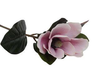 Διακοσμητικό Λουλούδι Μανώλια 73cm Coral, Pink, White 1-371-00-020 Etiquette Πλαστικό, Ύφασμα