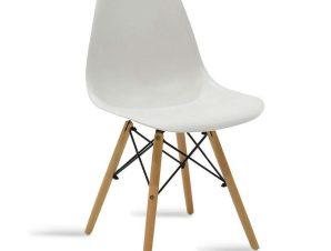 Καρέκλα Julita 029-000034 46x50x82cm Natural-White