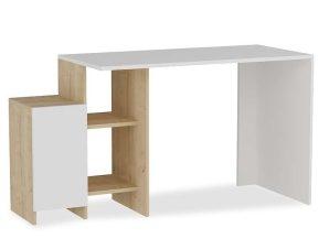 Γραφείο Με Ραφιέρα Kely 120-000023 113x55x74cm Natural-White
