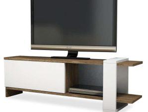 Έπιπλο Τηλεόρασης Cave 120-000042 120x25x37cm Brown-White