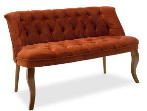 Καναπές Loreta Διθέσιος 146-000002 123x65x73cm Burgundy