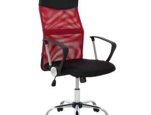 Πολυθρόνα Γραφείου Διευθυντική Joel 109-000003 60x60x109-118cm Red-Black