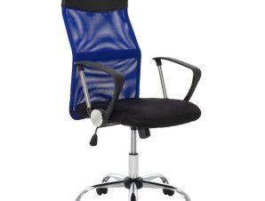 Πολυθρόνα Γραφείου Διευθυντική Joel 109-000004 60x60x109-118cm Blue-Black