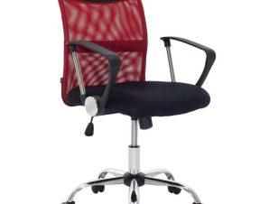 Καρέκλα Γραφείου Εργασίας Rina 109-000007 57x58x96-106cm Black-Red