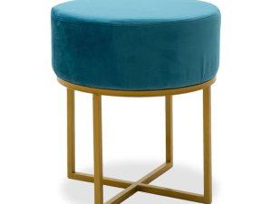 Σκαμπό Isla 110-000004 40x40x45cm Turquoise