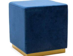 Σκαμπό Pyra 110-000035 39x39x41cm Blue-Gold