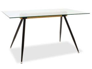 Τραπέζι Astrid 101-000019 140x80x75cm Natural-Black