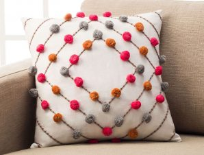 Μαξιλαροθήκη Διακοσμητική Arty Cloud Orange 187/03 Gofis Home 45X45 100% Βαμβάκι