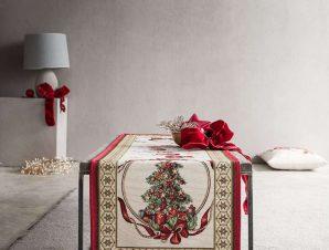 Runner Χριστουγεννιάτικο 693A Green-Red Gofis Home 40Χ150 45x140cm