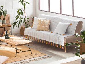 Ριχτάρι Rib 303/10 Mustard-Somon Gofis Home Τριθέσιο 180x310cm