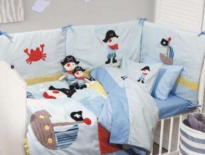 Πάντα Κούνιας 6510 Baby Dream Embroidery Ciel Das Home 45x195cm