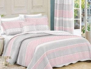 Κουβερλί Σετ 2τμχ Grey-Pink 408 Dim Μονό 160x220cm