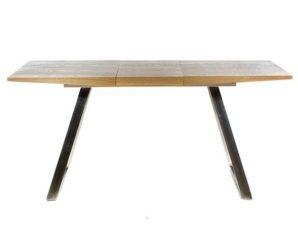 Τραπέζι Τραπεζαρίας Ανοιγόμενο 709-3103 130x80x76cm Dark Natural Artekko