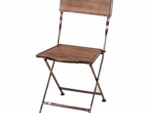 Καρέκλα Αναδιπλούμενη 45X40X85 Brown 305-2029 Artekko