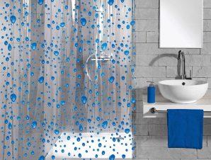 Κουρτίνα Μπάνιου Bubble 5192 Navy Blue Kleine Wolke Φάρδος 180cm 180x200cm