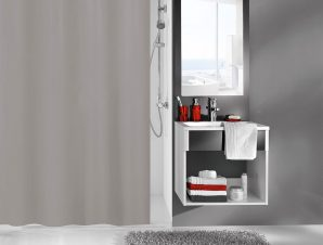 Κουρτίνα Μπάνιου Kito 4937 Dark Grey Kleine Wolke Φάρδος 180cm