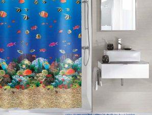 Κουρτίνα Μπάνιου Malediven 5202 Multicolor Kleine Wolke Φάρδος 180cm 180x200cm