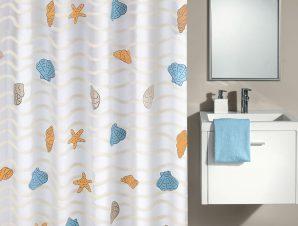 Κουρτίνα Μπάνιου New Beach 4959 Multicolor Kleine Wolke Φάρδος 180cm 180x200cm
