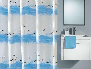 Κουρτίνα Μπάνιου Seaside 0856 CrocusBlue Kleine Wolke Φάρδος 180cm